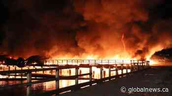 Two-alarm fire breaks out on decommissioned Surrey pier