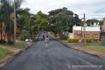 Posadas: concretan 1600 metros de asfalto en la Chacra 53 - economis.com.ar