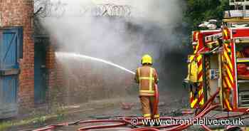 Firefighters battle for four hours to put out fire at old warehouse