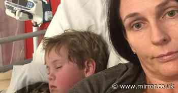 Mum cuddles son, 5, dying from same condition that killed brother, 9, and dad