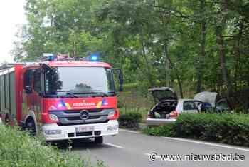 Twee twintigers gewond na klap met auto tegen boom