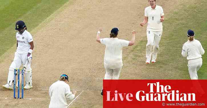 England and India draw women's Test match – as it happened