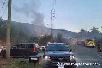 Fire crews respond to house fire on border of Chilliwack and Abbotsford – Chilliwack Progress - Chilliwack Progress