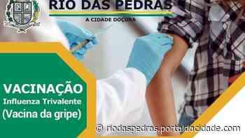 Saúde de Rio das Pedras realiza a vacinação da gripe (Influenza Trivalente) - Portal da Cidade