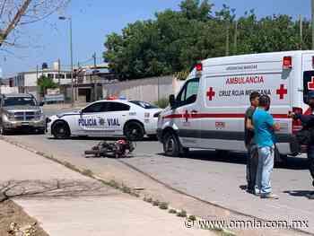 Impacta motociclista vs vehículo en la Monte Albán - Omnia