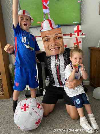 St Helens' football fans getting ready for England V Scotland match - St Helens Star
