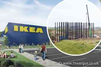 Lancing Ikea: first structures in place to connect A27 to New Monks Park development