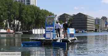 Un bateau de dépollution plastique fluviale présenté à Paris - GEO