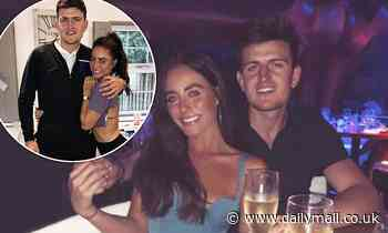 England footballer Harry Maguire and fiancée Fern Hawkins celebrate their 10 year anniversary
