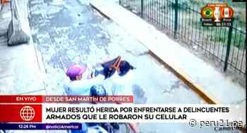 Mujer se enfrenta a malhechores para evitar robo en San Martín de Porres - Diario Perú21