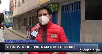 San Martín de Porres: Alcalde pide al Mininter mayor seguridad en Fiori - Canal N