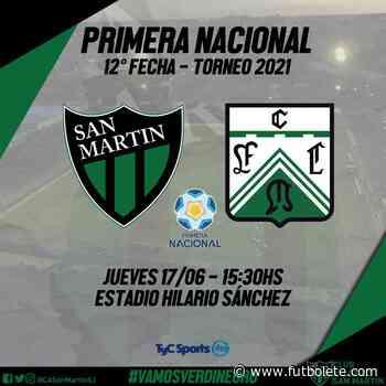 Ver en vivo San Martín vs Ferro por la fecha 12 de la Primera Nacional Argentina - Futbolete