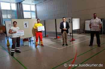 Immenstaad: Nach fast 4000 Abstrichen: Kommunales Corona-Testzentrum in der Linzgauhalle schließt - SÜDKURIER Online