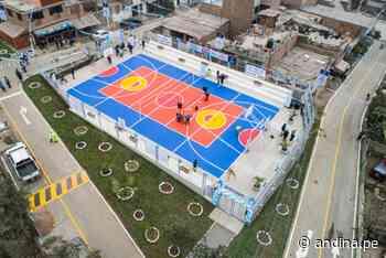 Municipalidad de Lima entregó losa deportiva y escaleras en Ate - Agencia Andina