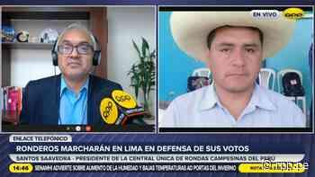 """Ronderos convocan a marcha nacional en Lima: """"El JNE debe tutelar el voto popular"""" - RPP Noticias"""