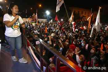 Keiko Fujimori participa mañana en marcha convocada en Centro de Lima - Agencia Andina