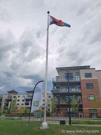 Pride flag raised for Pride week - Leduc Representative