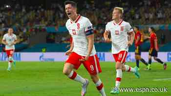 Lewandowski levels as Poland draw vs. Spain