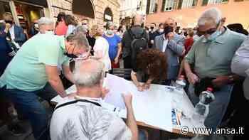 Aspi, manifestazione contro la vendita a Cassa Depositi e Prestiti - Italia - Agenzia ANSA