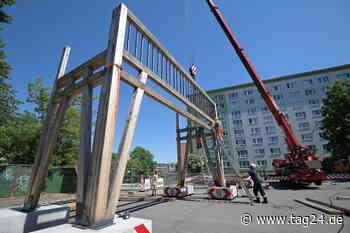 Diese Kunst muss weg: Holz-Skulptur weicht Baustellen-Zufahrt in Chemnitz - TAG24