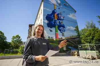 Alles schön bunt hier! Neue Fassaden-Kunst für Chemnitz - TAG24