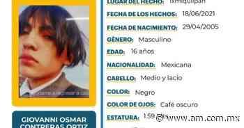 Giovanni Osmar desaparece en Ixmiquilpan - Periódico AM