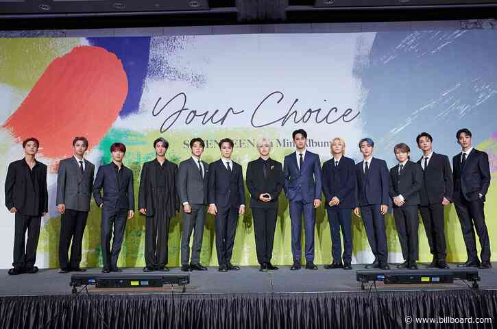 Seventeen's 'Choice' for Latest Mini-Album? 'We Want to Top the Billboard Charts'