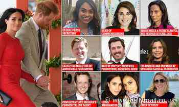 The Sussex Sultans of Spin: How team  of nine are trying to help Harry and Meghan win briefing war