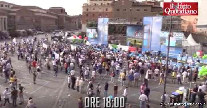 """Prima l'Italia, l'evento di Salvini a Roma è un mezzo flop: """"Grazie, qui nonostante il caldo"""". Le immagini della piazza semivuota (video)"""