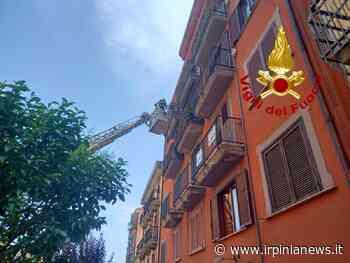 Avellino: calcinacci a Corso Umberto - Irpinia News