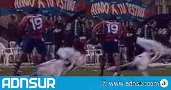 La terrible patada de Pedro Troglio a Mario Santana en un San Lorenzo-Gimnasia - ADN Sur