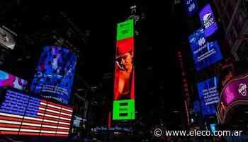 De Tandil a Nueva York: Ángela Leiva en las pantallas del Times Square - El Eco de Tandil