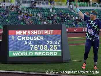 US-Meisterschaften: Nach 31 Jahren: Kugelstoßer Crouser löscht Uralt-Weltrekord - Bietigheimer Zeitung