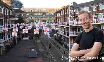 DAVID SKELTON watches the Euros clash on an inner-city estate festooned with St George's flags