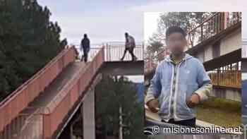 Filmaron a unos adolescentes que supuestamente tiraban piedras a los autos en la ruta 12 - Misiones OnLine