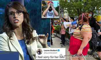 Lauren Boebert tells 'paid' protesters outside Western Conservative Summit to 'get a job'