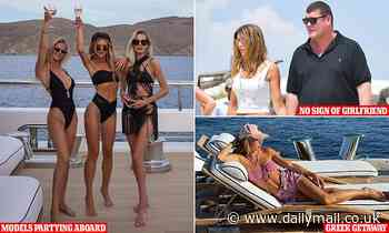 James Packer spotted aboard superyacht with European models in Mykonos - without his girlfriend