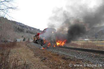No injuries in fiery train and semi crash   Elk Valley, Sparwood No injuries in fiery train - E-Know.ca
