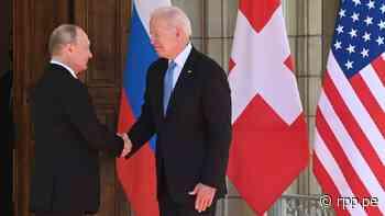 Joe Biden y Vladimir Putin inician cumbre en Ginebra con un apretón de manos - RPP Noticias
