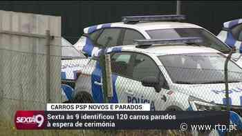 Torres Vedras. Dezenas de viaturas da PSP encontram-se paradas a aguardar cerimónia pública de enttrega - RTP