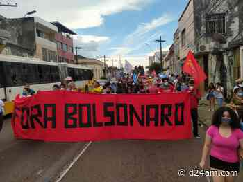 Governos de Bolsonaro e Wilson Lima são alvos de protestos em Manaus - D24AM