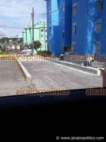 Vecinos inconformes por construcción indebida de barda en el FOVISSSTE Xalapa - alcalorpolitico