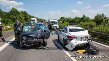 Auffahrunfall sorgt auf A70 in Franken für Trümmerfeld - Nordbayern.de
