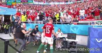 Hungría vs. Francia: Fiola marcó el 1-0 y golpeó la mesa de periodista en su festejo - América Televisión