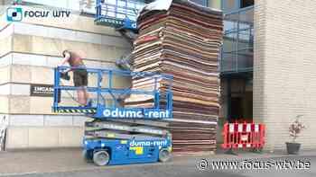 Wereldrecord tapijtenstapelen in Wevelgem - Focus en WTV