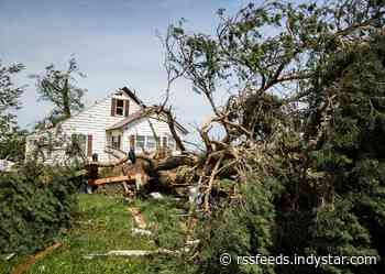 Strong EF2 tornado left path of destruction 5 miles long, 500 yards wide in Jay County
