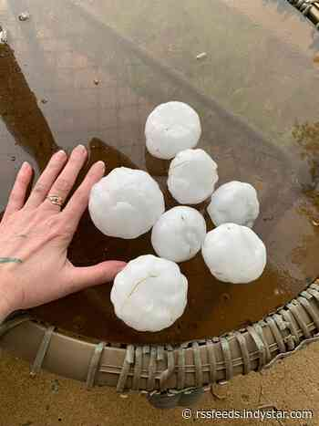 Storms, fist-sized hail move into Indianapolis area