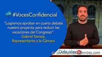 Representante Gabriel Santos habla del proyecto que le recorta vacaciones a los congresistas - Confidencial Colombia