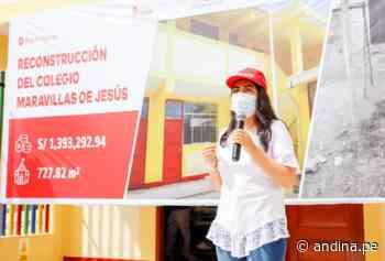 Tumbes: ARCC inaugura 2 colegios reconstruidos en beneficio de 82 niñas y niños - Agencia Andina