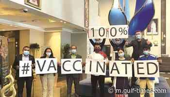 Gulftimes : Centara West Bay achieves vaccination success - Gulf Times